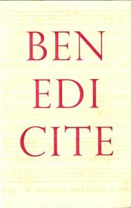 Benedicite(Cover)