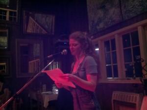 Jennifer Brennock on the open mic