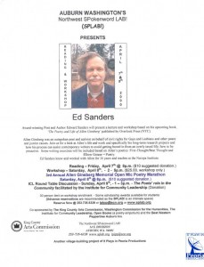Flyer from Ed Sanders workshop