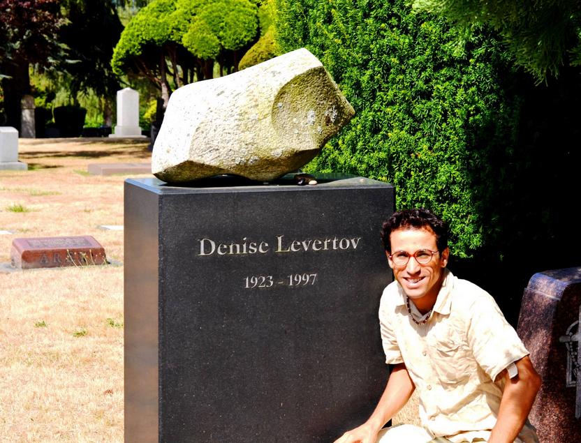 Habib at Levertov's Grave in Seattle