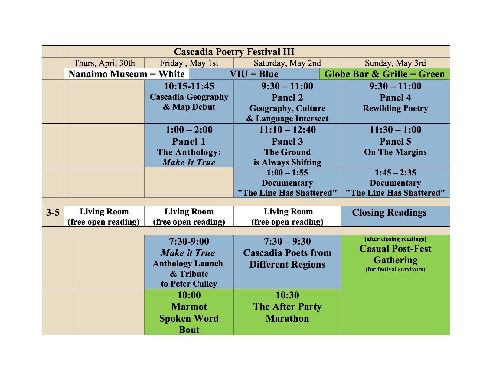 CPF3 Grid (Schedule)