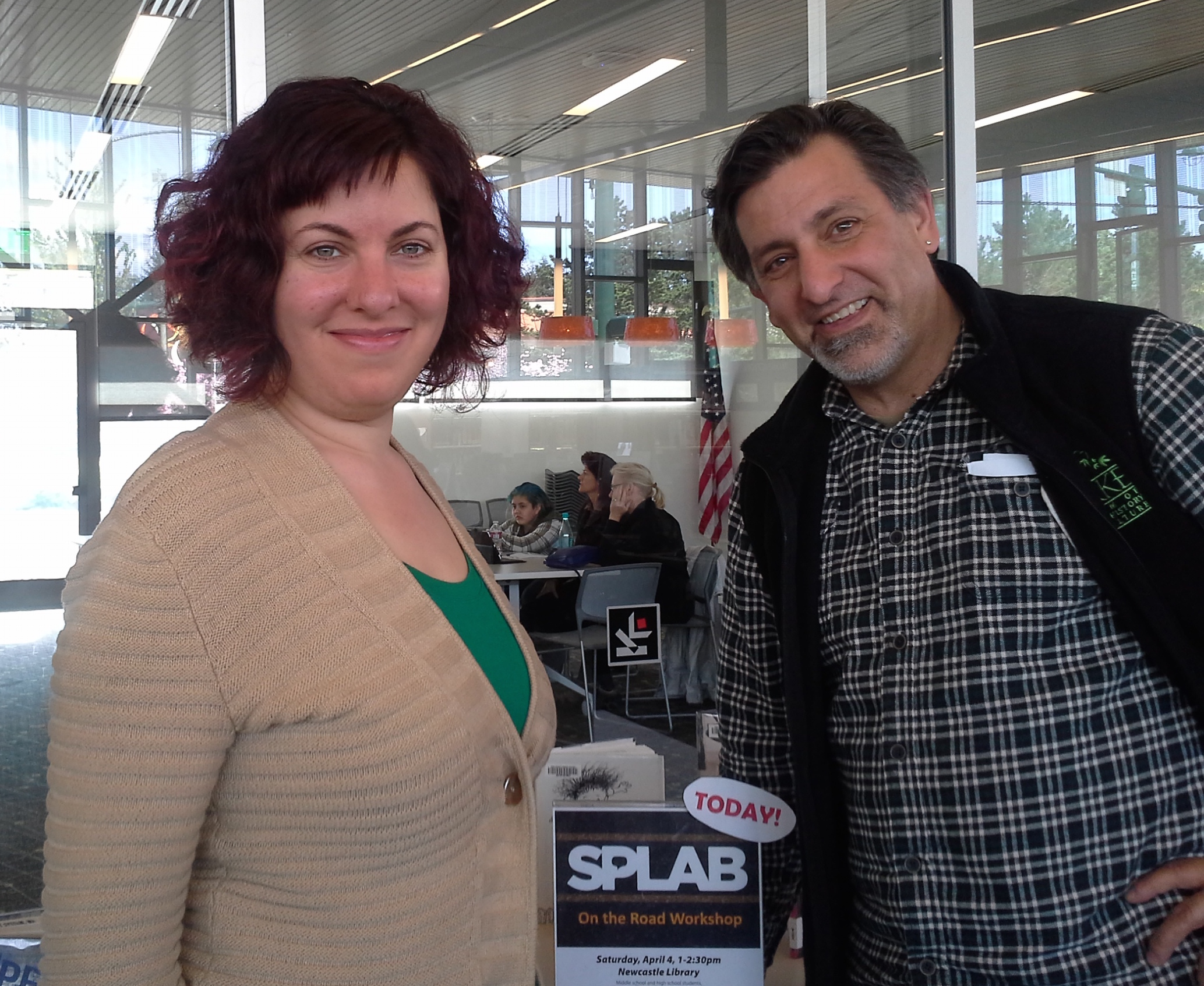 Samar Albulhassan and Paul Nelson (Your Humble Narrartor) at the Newcastle Library April 4, 2015