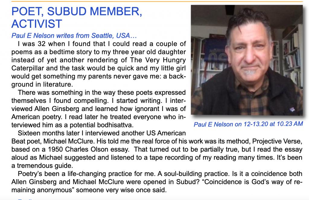 Paul E Nelson 2021 Subud Voice Feature
